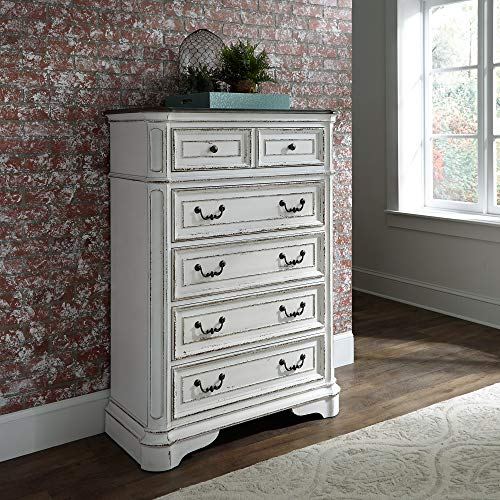 Liberty Furniture Industries Magnolia Manor 5 Drawer Chest, W38 x D19 x H54, White