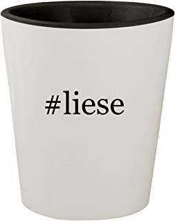 #liese - White Outer & Black Inner Hashtag Ceramic 1.5oz Shot Glass