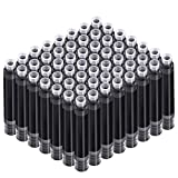 60 Pieces Fountain Pen Ink Pen Ink Cartridges Fountain Pen Refill Short International Standard Size Cartridges with 3.4 mm Bore Diameter for Calligraphy Pen and Fine Writing (Black)