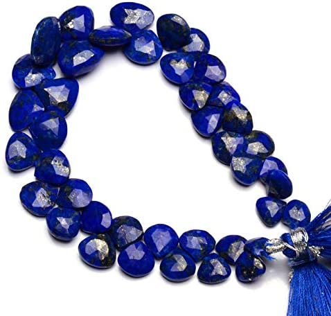 GEMZ 6 Max 60% OFF inch Strand of Natural Heart C Lapis Faceted Lazuli Super Special SALE held Shape