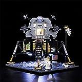 Qtlsgh Bloques de construcción establecidos para NASA Apollo 11 Lunar Lander LED Lámpara LED LED Sets para 10266 Grupo de lámpara única