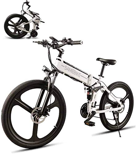 RDJM Ebikes Ebike 26'' Electric Bicycle for Adults 350W Mountain Bike with 48V 10Ah Lithium Battery, Bright LED Headlight and Horn, 21Speed Gear