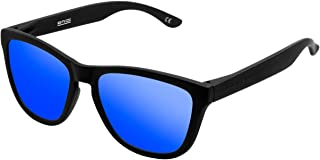 Hawkers Men's CARBON BLACK SKY ONE OTR30 Rectangular Sunglasses, Blue, 12mm
