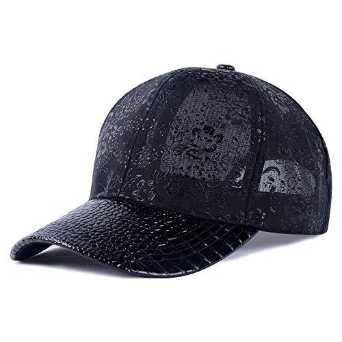 sdssup Cappello da Baseball in Maglia Cappello Cappello Casual Parasole Cappello Nero Regolabile
