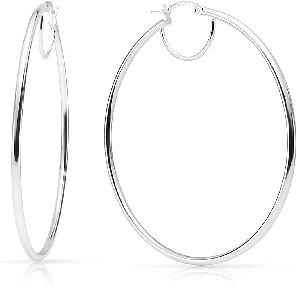 SOLIDSILVER- Sterling Silver 15-80mm C High Polished Lightweight Denver Mall Free shipping on posting reviews