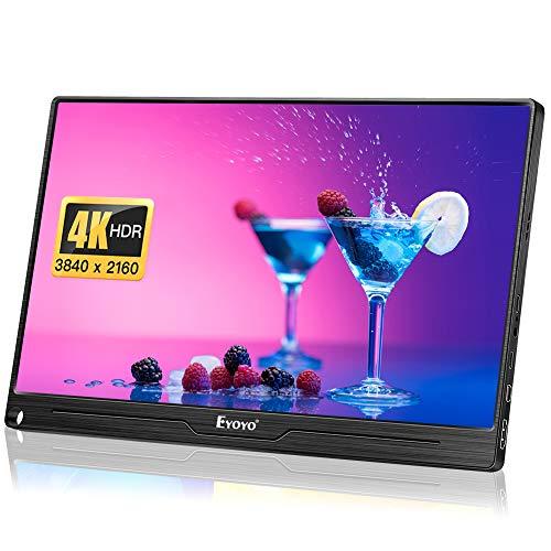 Eyoyo Portable Computer Monitor 4K Gaming Monitor 13.3 inch 3840x2160 UHD IPS Display USB-C Monitor Compatible with Mac Laptop PS4 Xbox One Smartphone