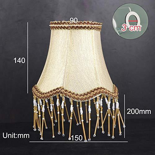 FICI Nordic Style Klassieke lampenkap Lampenkap Art Decor Kaars Hanglamp Kap Lichtkapdecoratie, goudkleurig