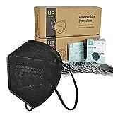 Bochuan x20 Mascarillas FFP2 Premium Negras de 5 Capas con Certificación Europea [ UpMask ] 👍 CE 2163 | EN149:2001+A1:2009 | UE 2016/425 (Negras, x20 uds)