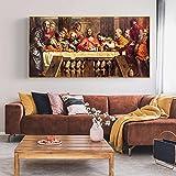 Pintura famosa La Última Cena Pintura Carteles e impresiones artísticos en lienzo Imágenes artística...