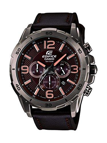 Casio Efr-538l-5avudf Reloj Analógico para Hombre Colección Edifice Caja De Acero Inoxidable Esfera Color Marron