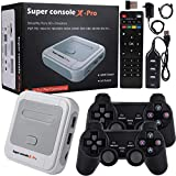 Abollria Retro Game Console, Built-in Super Console X-pro with More Than 41,000 Games, Game + TV Dual Control System, 80+ Emulator Game Console for 4K TV HDMI/AV Output, 128GB (Super Console X-pro)