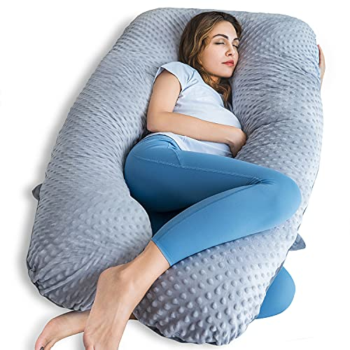 QUEEN ROSE Pregnancy Pillow, U Shaped Pregnancy Pillows for Sleeping, Maternity Body Pillow for...