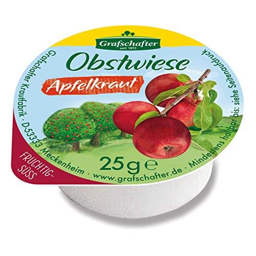 Grafschafter Goldwiese Apfelkraut, Brotaufstrich, Brot Apfel Aufstrich, Zuckerrüben Sirup, für Gastro, Hotel, Büro, Kantine, 80 Stück à 25 g