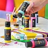 Arteza Pouring Acrylfarbe, 32 Stück-Set, 60 ml Flaschen mit vielen Farbtönen, flüssige Gießfarbe, kein Mischen erforderlich, Farbe zum Gießen auf Leinwand, Glas, Papier, Holz, Fliesen und Steine - 3