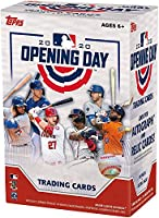 2020 Topps Opening Day MLB Trading Cards Blaster Box- 66 Cards + 11 Insert Cards | Find Rookie & Veteran Autographs