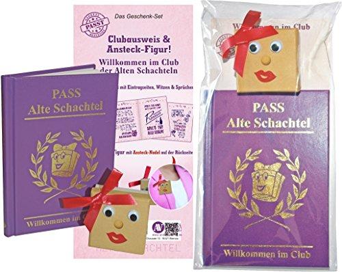 AV Andrea Verlag Willkommen im Club der Alten Schachtel, der ultimative Pass für alte Schachteln. Clubausweis mit Ansteckfigur im Set