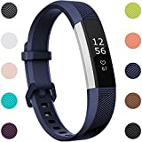 Maledan Compatible with Fitbit Alta Bands, Replacement Band for Fitbit Alta HR/Alta/Ace, Small, Navy Blue