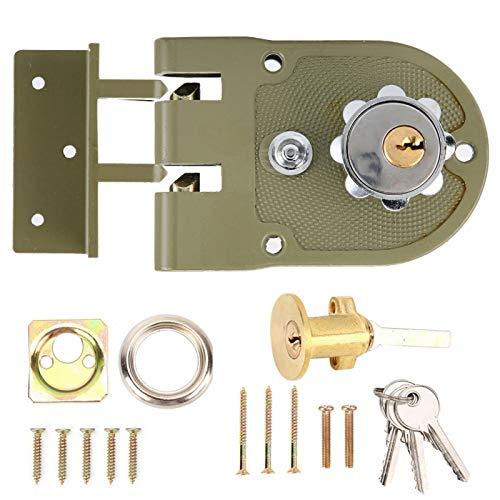 Cerradura de Puerta antirrobo, Buena Durabilidad Resistencia a la abrasión Cerradura de Puerta Resistente, Sistema de Seguridad Los Accesorios para el hogar se Pueden(Open Left)