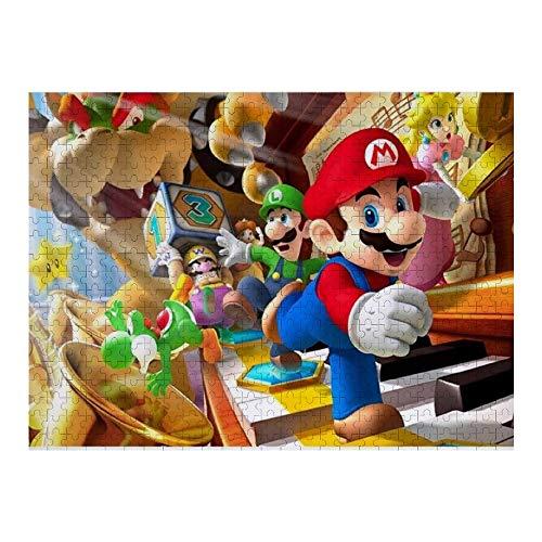 Promini Holz 500 Stück Super Mario Puzzles Tägliche Puzzlespiele für Erwachsene und Kinder