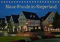 Blaue Stunde im Siegerland (Tischkalender 2022 DIN A5 quer): Rundreise durch das Siegerland (Monatskalender, 14 Seiten )