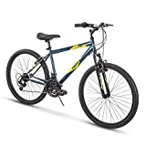 Huffy Hardtail Mountain Bike, Stone Mountain 24-26 inch 21-Speed, Lightweight (Summit Ridge)