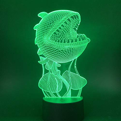 3D illusie lampen vleesetende plant 7 kleuren LED nachtlampje touch-schakelaar USB gebruik tafellamp kinderen nachttafellamp kerstcadeau verjaardagscadeau
