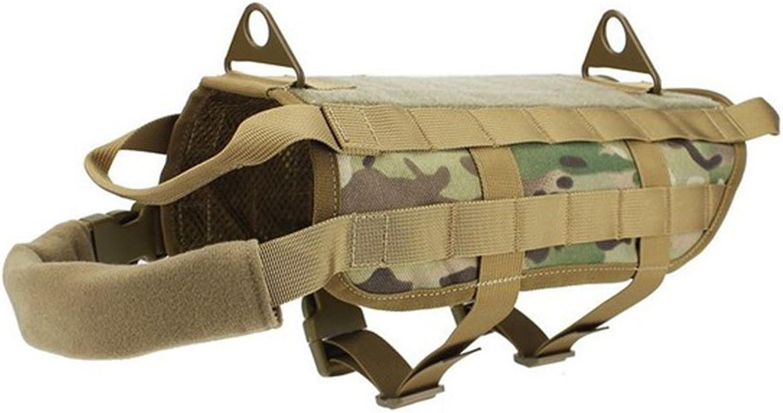 OSdream Tactical Dog Training Molle Vest Harness (Multicam, XL   21.3in (54cm))