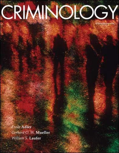 Criminology, 7th Edition