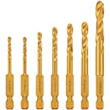 DEWALT Drill Bit Set, Impact Ready, Titanium, 7-Piece (DD5157)...