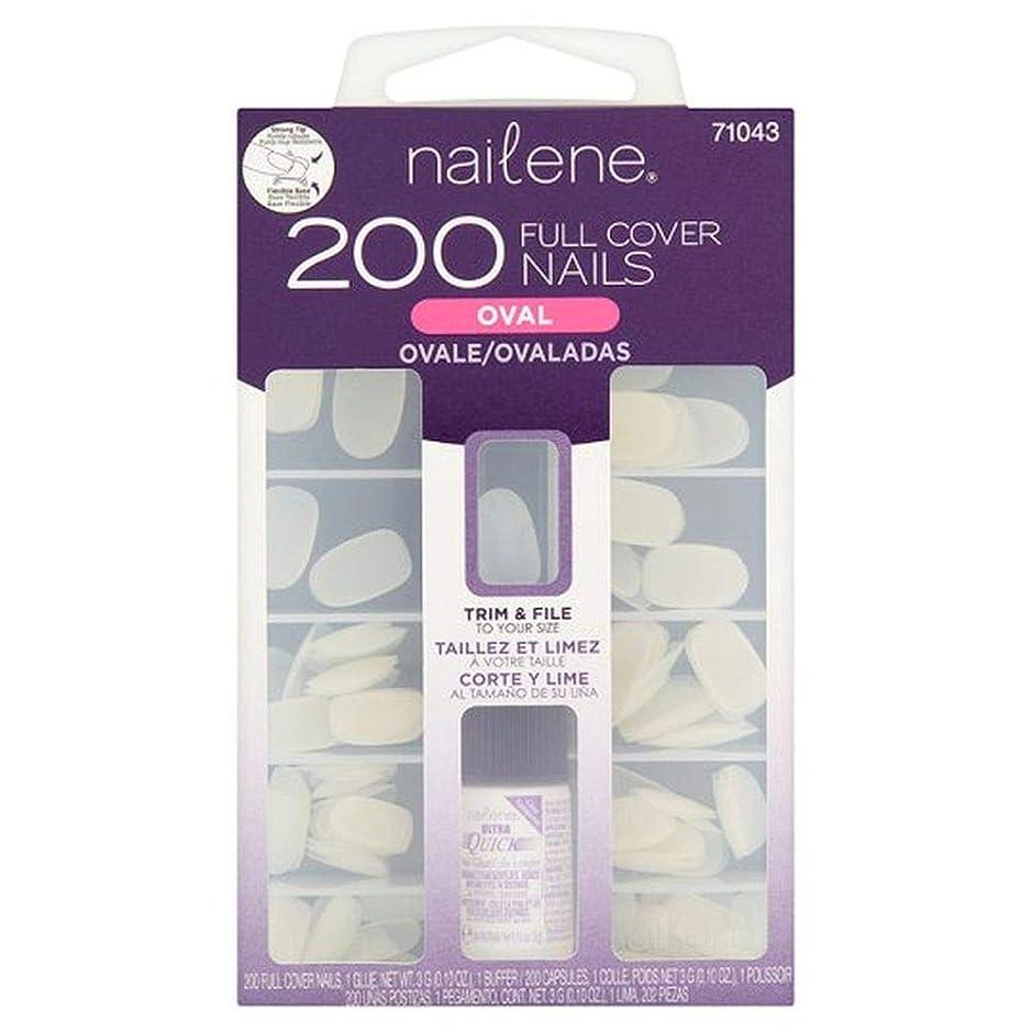 寄付地区合計[Nailene] Nailene 200カウントネイルフルカバーオーバル - Nailene 200 Count Nail Full Cover Oval [並行輸入品]