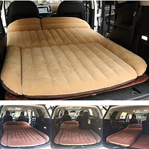 Berocia Colchoneta SUV Colchon Inchable Automatico Coche Hinchable Camping para el hogar Senderismo al Aire Libre, Superficie de Flocado, rápida Inflación 4/6