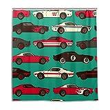 MyDaily Retro Comic Auto-Duschvorhang, 182,9 x 182,9 cm, schimmelresistent und wasserdichte Polyester-Dekoration Badezimmer Vorhang
