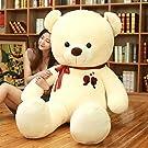 BEARS'ホームぬいぐるみ くま 特大 大きい  熊 コストコ テディベア クリスマス 誕生日 プレゼント カップルの熊  彼女 子供 コストコ 抱き枕 (ホワイト、160cm)
