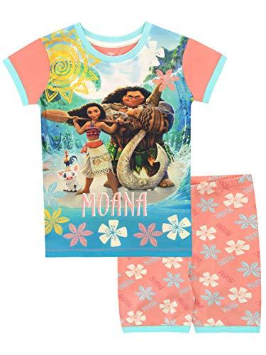 Disney Mädchen Moana Schlafanzug Blau 146
