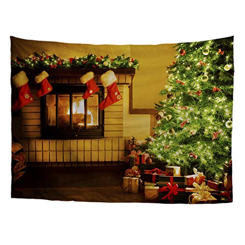 Hey shop Christmas home decoration living room sofa bedroom background cloth hanging cloth tapestry