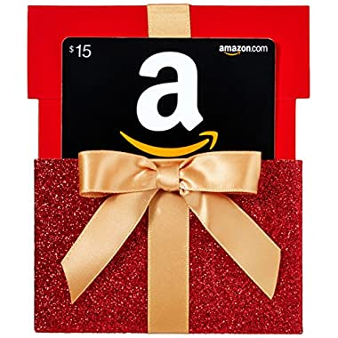 Amazon.com $15 Gift Card in a Gift Box Reveal (Classic Black Card Design)