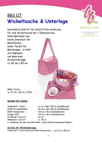 BBS 117 Schnittmuster Tasche Wickeltasche mit Fotoanleitung bettina bruder®