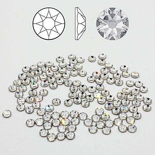 Christoph Palme Leuchten 100 Stück Swarovski 2078 Strass-Steine ø 4mm SS16 Hotfix zum aufbügeln Crystal Clear Glitzersteine Schmucksteine Bastelsteine