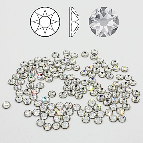 100 ACRYL DIAMANTEN crystal clear  4 mm  NO hot fix Basteln