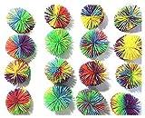 FENDIDI 16 Pack Monkey Stringy Balls, Soft Stress Balls Monkey Balls, Sensory Fidgets Toys,Rainbow Pom Ball, Colorful Bouncy Ball ,Stress Toy, Sensory Toy