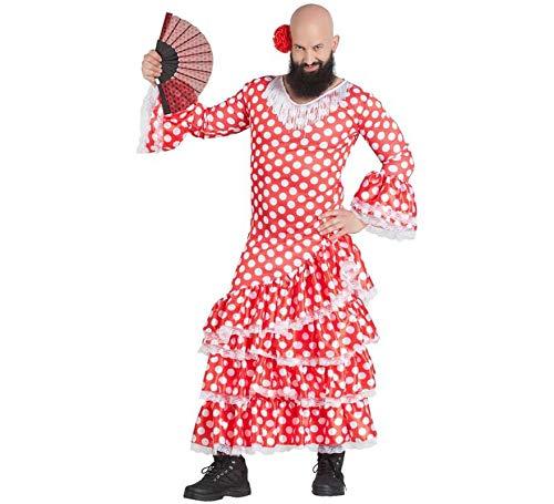 Car&Gus Disfraz de Sevillana con Topos para Hombre