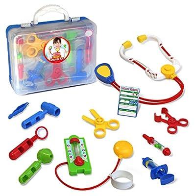 Kidzlane Deluxe Doctor Medical Kit - Pretend Play Set for Kids