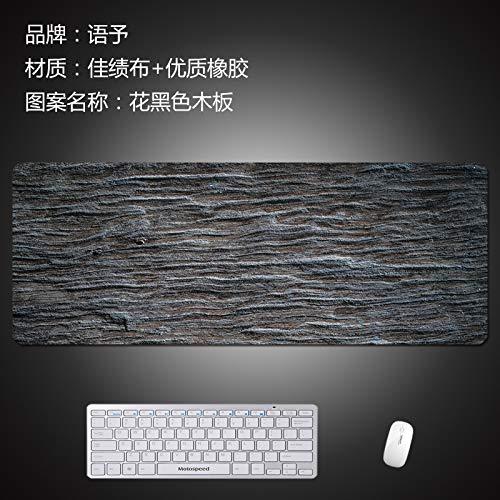 WQMousePad Alfombrilla de ratón tamaño Puede ser de Madera de mármol, la Estera de la Mesa del hogar, el cojín del Escritorio, la Marea, el Tablero Negro de Flores, 900x400x3 mm