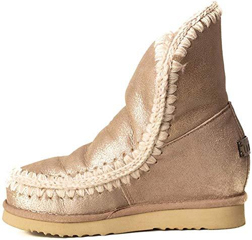 Mou Damen Wildleder Stiefel Boots beige EU 40 ESKIMO INNER WEDGE