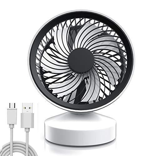 LTLWSH Ventilador de Mesa, Ventilador USB Silencioso Portátil USB Ajustable Rotación de 25 ° de Ángulo, para Camping, Oficina, Deportes, Viajes, etc
