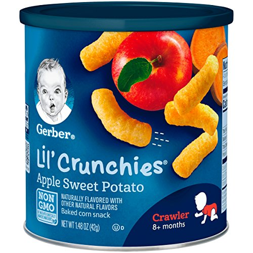 Gerber Lil' Crunchies, Apple Sweet Potato, 1.48 Ounce (Pack of 6)