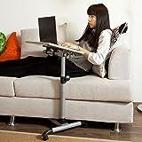 SoBuy FBT07N-W Table de lit pour ordinateur portable avec plateau inclinable hauteur...
