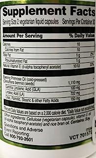 Vitacost Evening Primrose Oil - 1,110 mg per Serving - 60 Vegetarian Liquid Capsules