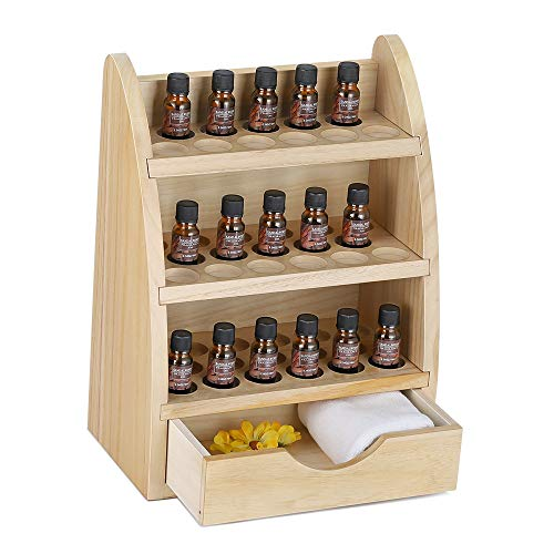Essential Oils Storage Rack & Wooden Display Holder Organizer