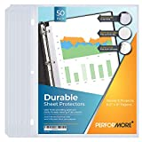 50 Sheet Protectors, Durable Clear Page...